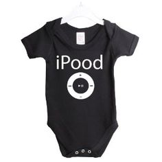 iPood ipod funny babygrow baby suit gift. #Babies #Humor #Funny #Silly