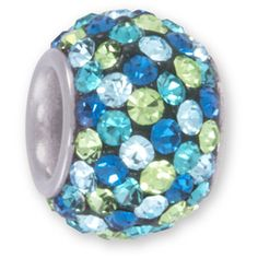 Connections from Hallmark Crystal Accent Stainless Steel Multi-Color Blue Charm