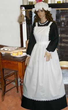 Victorian maid costume: the front...: