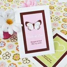 Seeds of Love Personalized Wildflower Seed Favors - This favor is eco-friendly and plantable. Personalize these seed packets with three lines of custom text. Plus, choose from a variety of colors and designs to create the perfect favor for your big day.