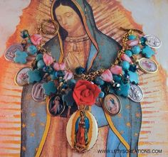 Catholic Our Lady of Guadalupe, Saints, Religious Medals Charm Bracelet www.letyscreations.com