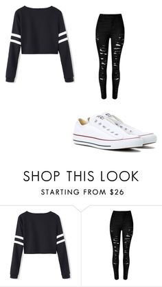 """Untitled #31"" by harry-potter-forever66 ❤ liked on Polyvore featuring Converse"
