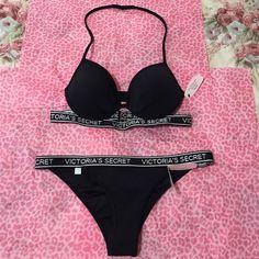 Victoria's Secret  new Swimsuit⛵️ Victoria's Secret new swimsuit black and white...                                                                              ✅New With Tags...                                                        ❌NO Trade... Victoria's Secret Swim