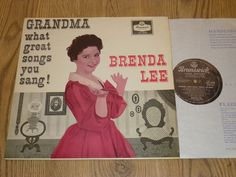 BRENDA LEE - Grandma What Great Songs You Sang  UK VINYL LP - BRUNSWICK LAT 8319