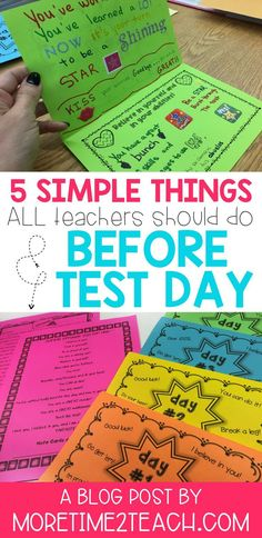 Don't let testing stress get to you! Read all about 5 simple things that teachers should do BEFORE test day. Between testing motivation, wardrobe tips, and relaxation breathing techniques, we've got you covered! #testing #testingideas #testingtips