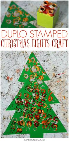 This easy Christmas lights craft for kids is perfect for little hands and you could use it to teach about colour mixing too! #christmas #christmascrafts #eyfs