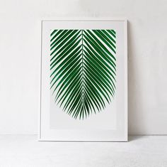 Tropical PRINTABLE Art, Palm Leaf Print, Botanical Art Print, Palm Print Tropical DIGITAL DOWNLOAD  Large Wall Art Print, Emerald Green Art by ModeaPrints on Etsy https://www.etsy.com/listing/457002392/tropical-printable-art-palm-leaf-print