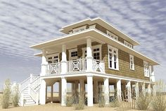 hurricane proof beach house plans best of exteriors images on image Beach Cottage Style, Beach Cottage Decor, Coastal Cottage, Coastal Homes, Coastal Living, Fishing Shack, Design Light, Big Living Rooms, Beach House Plans