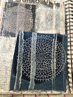 Textiles Techniques, Paper Embroidery, Japanese Textiles, Sketchbook Inspiration, Handmade Books, Fabric Manipulation, Texture Art, Mail Art, Machine Quilting