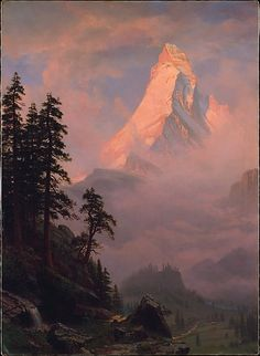 Sunrise on the Matterhorn-after 1875 Albert Bierstadt (American, Solingen 1830–1902 New York)