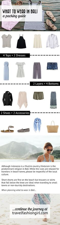 Wondering what to wear to Bali? Use this Bali packing list and travel tips to help you make the most of your trip! http://travelfashiongirl.com/bali-style-what-to-wear-in-bali/ via @travlfashngirl #packing #list #travel