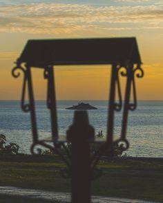Caged Island . . . . #rovinj #trip #holiday #sunset #sun #sunny #goodday #photooftheday #clouds #orangesky #ocean #travel #vacation #croatia
