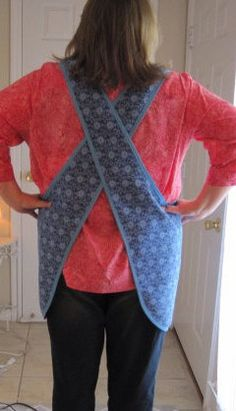 DIGITAL SEWING PATTERN DOWNLOAD The Nartizt Crossed Strap Plus Size Apron