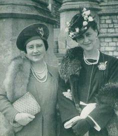 Queen Elizabeth and Marina Duchess of Kent