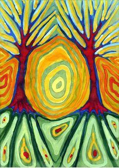 by Wojtek Kowalski - artwork with trees - tree negative space design