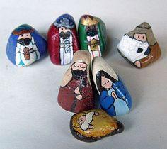 Item 97: 7-Piece Stylized Colorado Rocks Nativity Set