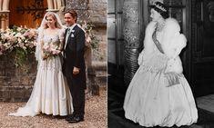 Royal Wedding Gowns, Lace Wedding Dress, Classic Wedding Dress, Royal Weddings, Wedding Dresses, Lady Diana, Princess Margaret Wedding, Princesa Beatrice, Second Hand Dresses