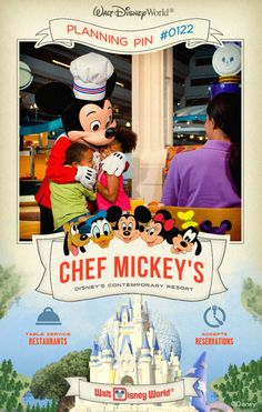 Walt Disney World Planning Pins: Join some favorite Disney Friends for a fun-filled feast at Disney's Contemporary Resort.