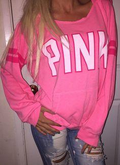 Large Victoria's Secret PINK Hoodie sweatshirt pullover fleece Sweatshirt Jacket #VictoriasSecret #Hoodie