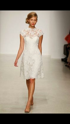 Lace  high neck