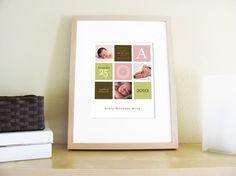 Modern birth print