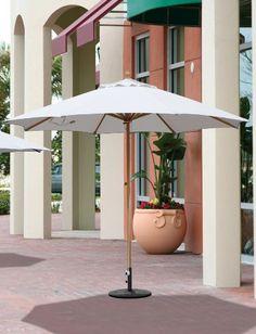 1200 10 x 10 greencorner square wood market umbrella patio