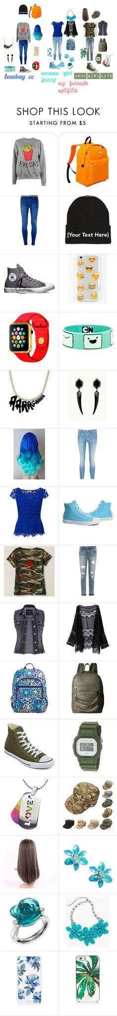 """my friends out fits"" by lixxy92 ❤ liked on Polyvore featuring Adolescent Clothing, Everest, Dorothy Perkins, Converse, Ankit, Tatty Devine, J Brand, Jacques Vert, Burnetie and Joe's Jeans"