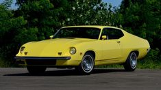 One-of-three prototype Ford Torino King Cobra once served as Bud Moore& runabout Grand Torino, Nascar Race Cars, Classic Hot Rod, Ford Lincoln Mercury, Ford Torino, Yellow Car, King Cobra, Ford Classic Cars, Ford Fairlane