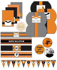 Love the patterns in Halloween colors! I almost want to have a party just to make invitations like this! Except there are about a million reasons I want to have a Halloween party... =0)