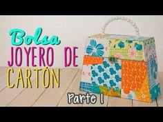 Joyero de Cartón con forma de Bolsa - Organizador de Accesorios - Parte 1/2   Catwalk - YouTube