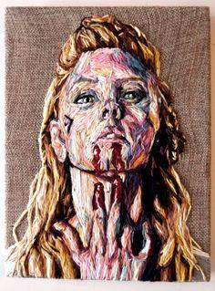 """I know"" Embroidery,18 x 24 cm, 2016"