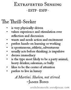 this section esfp personality gives a basic overview of the  characters mbti continued