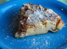 Baked Custard Pancake  ~~~   This pancake is so good. In fact, it is more like a custard than cake and a wonderful breakfast delight. It puffs up nicely in the oven and then as you let it set, it absorbs all of the butter, sugar and cinnamon that is on the bottom layer.  This recipe is so easy to make ... but your guests will never know!