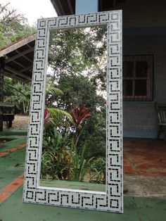 Mosaico espelho indigena gancho