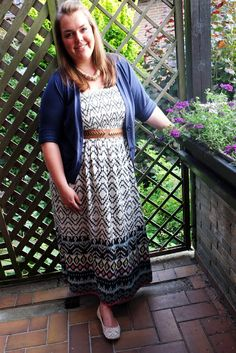 Muster-Maxi-Kleid | Plus Size Fashion Outfits | pattern print dress