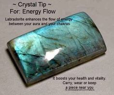 ∆ Labradorite...According to legend the Northern Lights were once imprisoned in the rocks along the coast of Labrador. It is told that a wandering Eskimo warrior found them and was able to free most of the lights with a mighty blow from his spear. Some of the lights were still trapped inside the stone, and thus we have the beautiful mineral known as Labradorite.