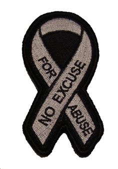 "Anti-Child Abuse Blue Awareness Ribbon 3.5/"" Iron//Sew On Decorative Patch"