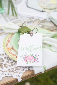 Place names by Knots & Kisses. Champagne Saucers, Vintage Crockery, Floating Flowers, Place Names, Spring Wedding, Amazing Cakes, Kisses, Knots, Delicate