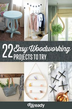 22 Easy Woodworking Projects by DIY Ready at http://diyready.com/easy-woodworking-projects/