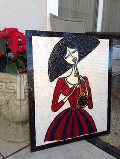 Figurative mosaic by @Z Glass Art ....I love this!