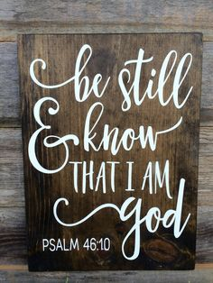 Ready to Ship Motivational Sign Bible Verse Be by RSBRCustoms