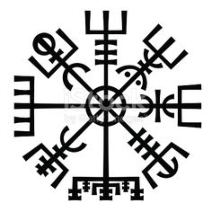 ?Vegvisir?. The Magic Navigation Compass of Vikings. Runescript from Ancient Medieval Icelandic Manuscript Book. Talisman for luck road and good voyage.