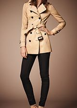 Burberry The Sandringham - Mid-Length Heritage Trench Coat Honey  -  A slim fit trench coat, The Sandringham is tailored closely to the body with a fitted waist.  Discover the women's outerwear collection at Burberry.com