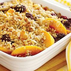 Peach - Blackberry crumb