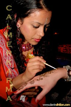 Finest quality hand painted Bollywood henna and glitter henna painted to your ow.