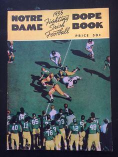 1955 Notre Dame Football Dope Book - Paul Hornung  | eBay