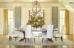 Sophisticated Dining Room Decor by AD100 Designers | Architectural Digest - SUZANNE KASLER INTERIORS (=)