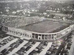 Hollender Stadium was located on the Southeast corner of Ridgeway Avenue and Mount Read Blvd.  Built in 1949 for the Aquinas Institute Football Team, it was also the home for the Rochester Lancers Soccer Team.  The Buffalo Bills had their first ever win, at the stadium in an exhibition game against the Denver Broncos in August 1960.  The 20,000 seat stadium was torn down in 1985.  The Hollender Industrial Park is now located at the site.