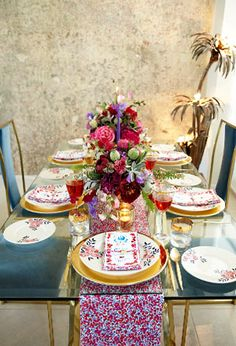 Flowers of Liberty dinner sets