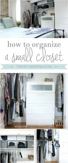 How to Organize a Small Closet - 3 simple tips for organizing success  Bedroom Closet Storage d9ded9eb7f5f4